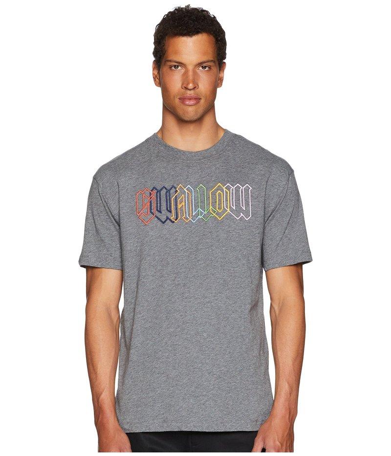 アレキサンダー・マックイーン メンズ シャツ トップス Rainbow Swallow T-Shirt Stone Grey