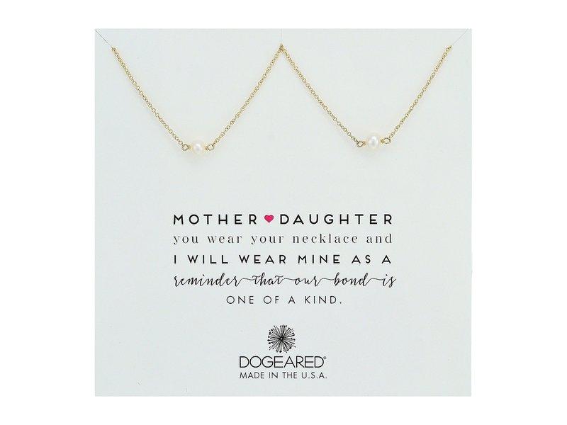 ドジャード レディース ネックレス・チョーカー・ペンダントトップ アクセサリー Mother & Daughter, 2 Small Pearl Necklace Gold Dipped