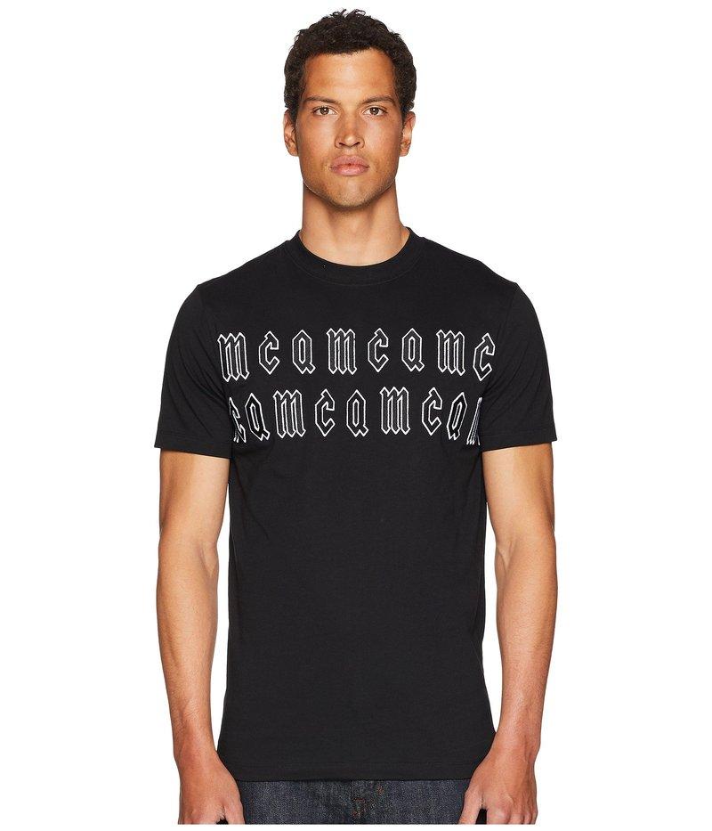 アレキサンダー・マックイーン メンズ シャツ トップス Gothic Logo T-Shirt Black