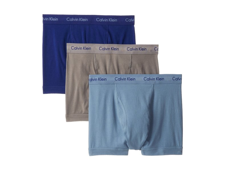熱販売 カルバン 3-Pack クライン Blue/Sterling アンダーウェア メンズ トランクス Blue/Slate アンダーウェア Cotton Stretch Trunk 3-Pack NU2665 Imperial Blue/Sterling Blue/Slate Stone, インターショップ:55f66f27 --- supercanaltv.zonalivresh.dominiotemporario.com