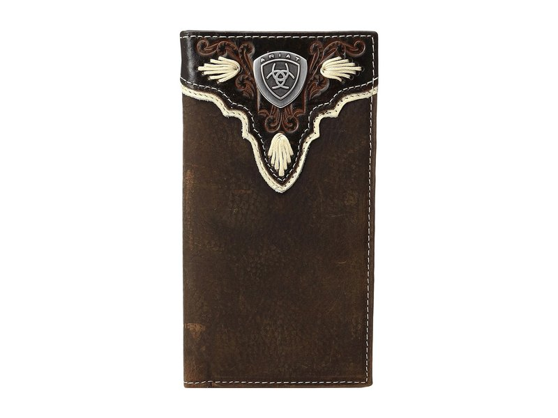 アリアト メンズ 財布 アクセサリー Shield Ivory Rodeo Wallet Medium Brown Distressed/Ivory