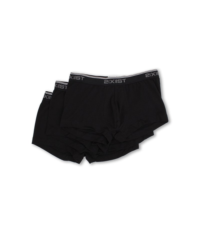 国内初の直営店 ツーイグジスト Stretch メンズ トランクス アンダーウェア Stretch Black/Black/Black No 3 Pack No Show Trunk Black/Black/Black, ホットセール:b2f2c5bf --- business.personalco5.dominiotemporario.com