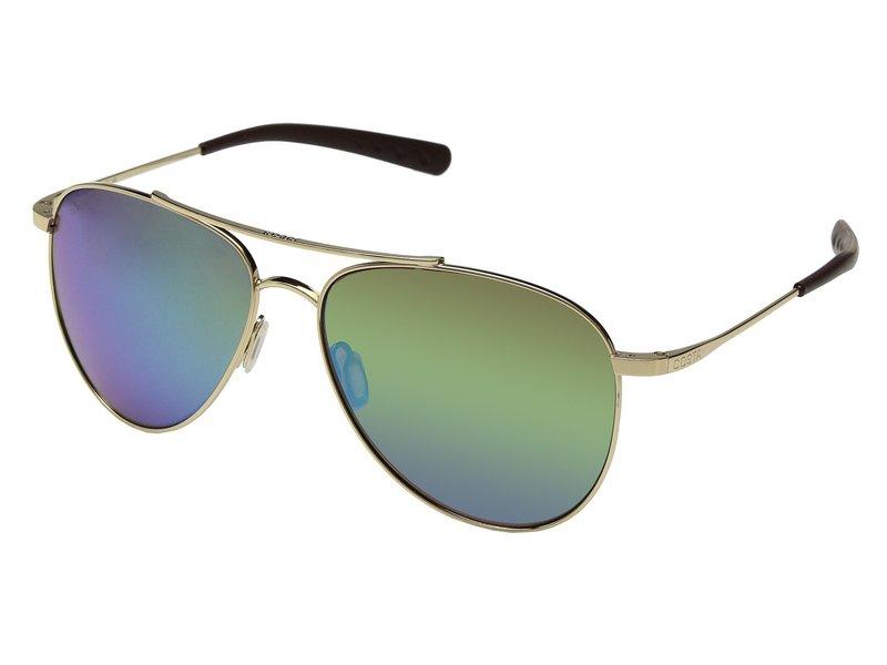 コスタ メンズ サングラス・アイウェア アクセサリー Cook Shiny Gold Frame/Green Mirror Glass W580