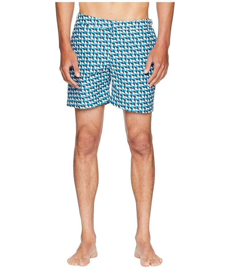 オールバー ブラウン メンズ ハーフパンツ・ショーツ スイムウェア Bulldog Barthmann Swim Shorts Azure