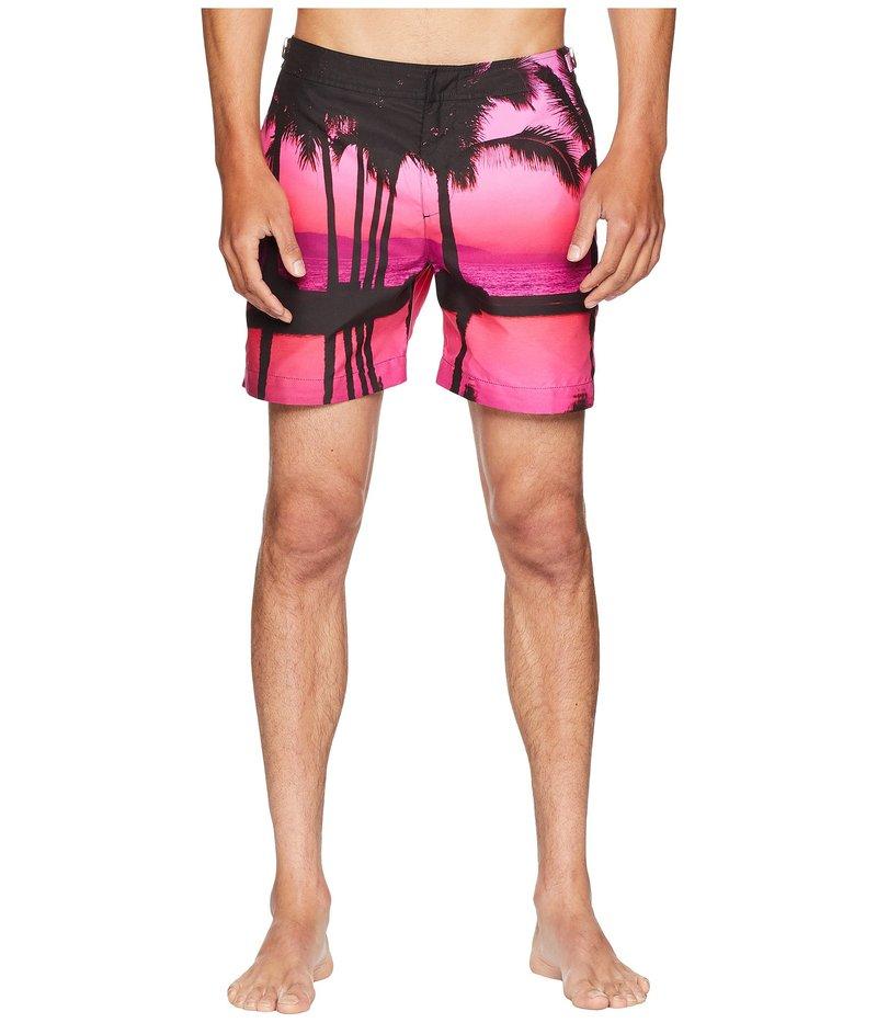 オールバー ブラウン メンズ ハーフパンツ・ショーツ スイムウェア Bulldog Photographic Paradise Swim Shorts Paradise Skies