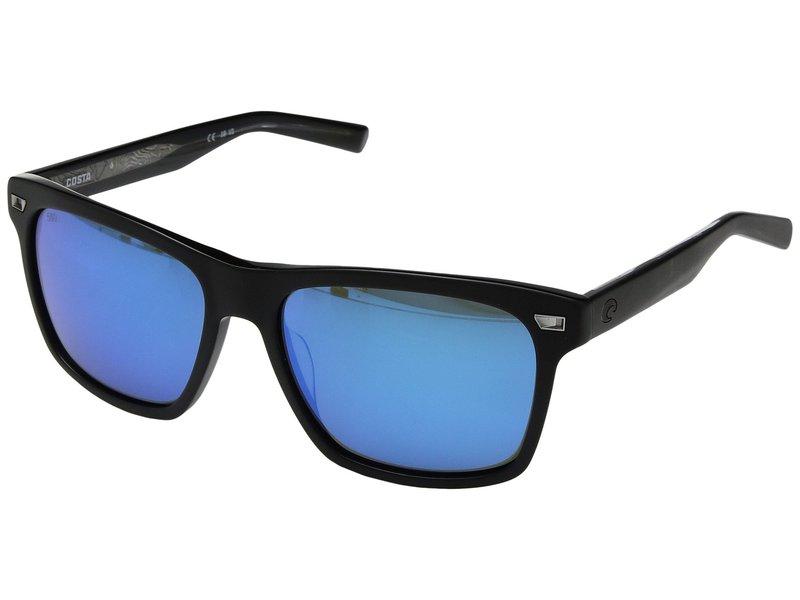 コスタ メンズ サングラス・アイウェア アクセサリー Aransas Matte Black Frame/Blue Mirror 580G