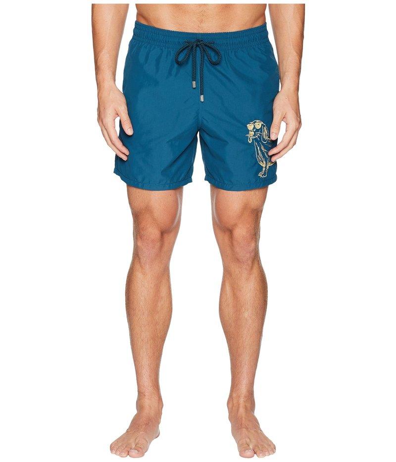 ヴィルブレクイン メンズ ハーフパンツ・ショーツ 水着 Motu Sunny Dog Embroidery Swim Trunk Embruns