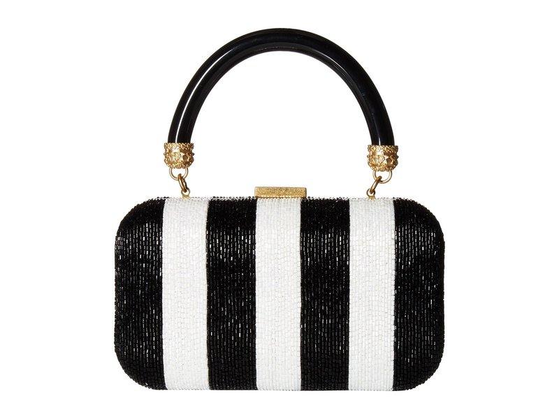 アリス アンド オリビア レディース ハンドバッグ バッグ Shirley Embroidered Large Clutch Black/White