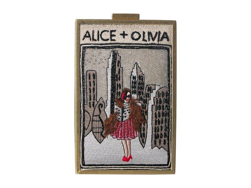 アリス アンド オリビア レディース ハンドバッグ バッグ Sophia Vintage New York North South Clutch Multi