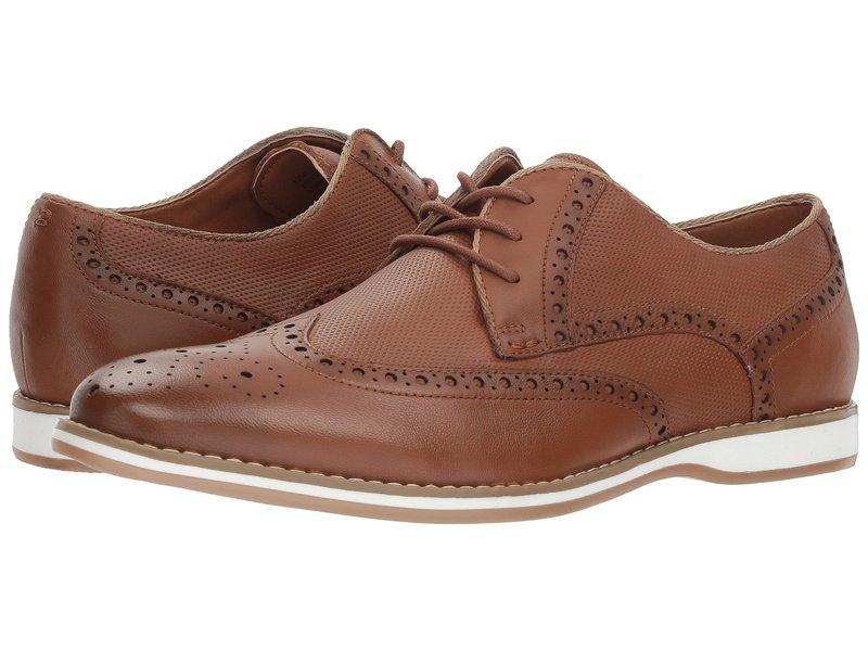 ケネスコール メンズ オックスフォード シューズ Weiser Lace-Up Cognac Leather