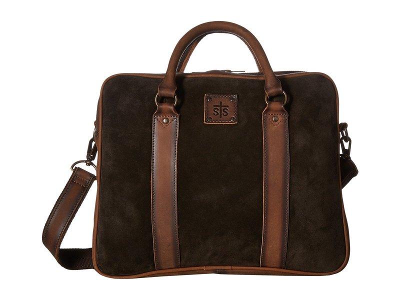 エスティエスランチウェア メンズ ビジネス系 バッグ Heritage Satchel Briefcase Chocolate Suede/Tornado Brown