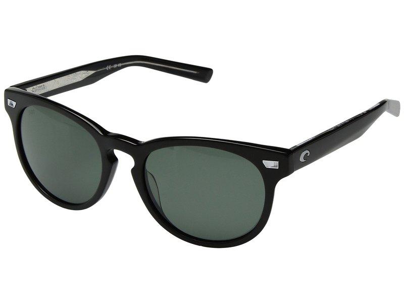 コスタ メンズ サングラス・アイウェア アクセサリー Del Mar Shiny Black Frame/Gray 580G