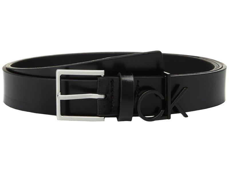カルバンクライン レディース ベルト アクセサリー 30mm Flat Strap Black/Brushed Nickel