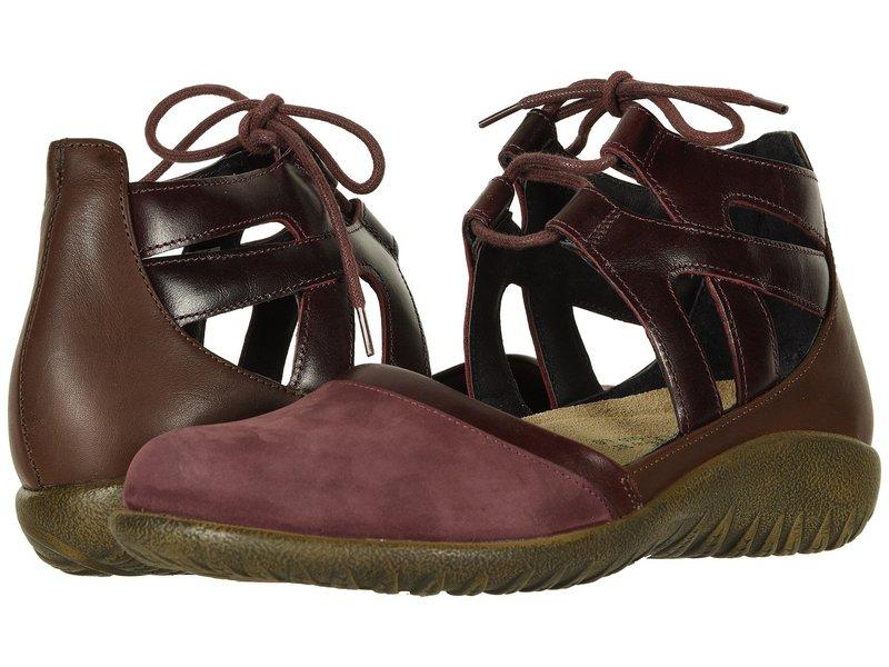 ナオト レディース サンダル シューズ Kata Violet Nubuck/Bordeaux Leather/Toffee Brown Leather