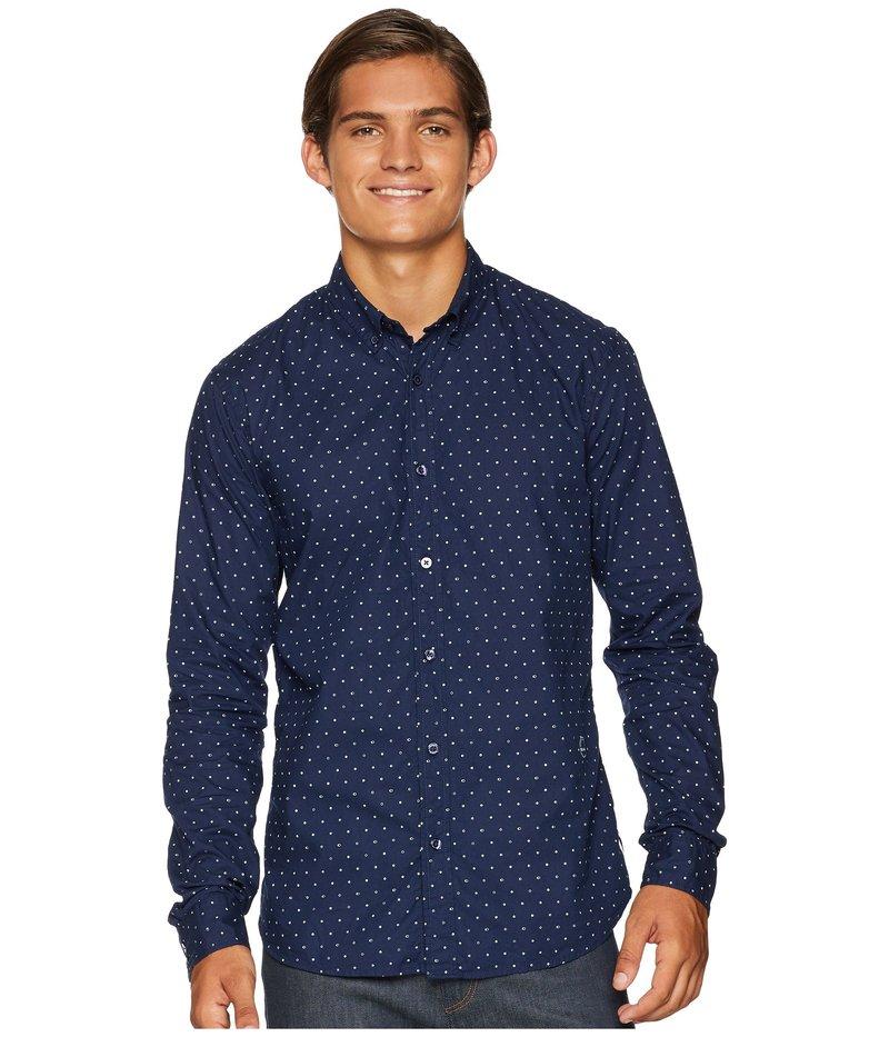 スコッチアンドソーダ メンズ シャツ トップス Ams Blauw Slim Fit Simple Lightweight Printed Shirt Combo H