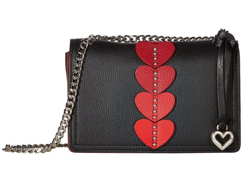 ブライトン レディース ハンドバッグ バッグ Amore Flap Bag Black/Red