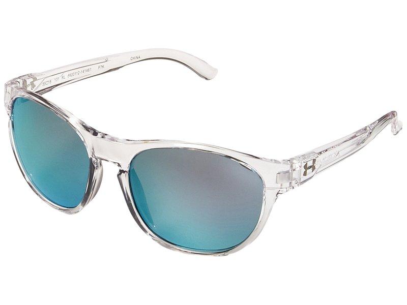 アンダーアーマー メンズ サングラス・アイウェア アクセサリー UA Glimpse Rl Gloss Crystal Clear/Blue Lens