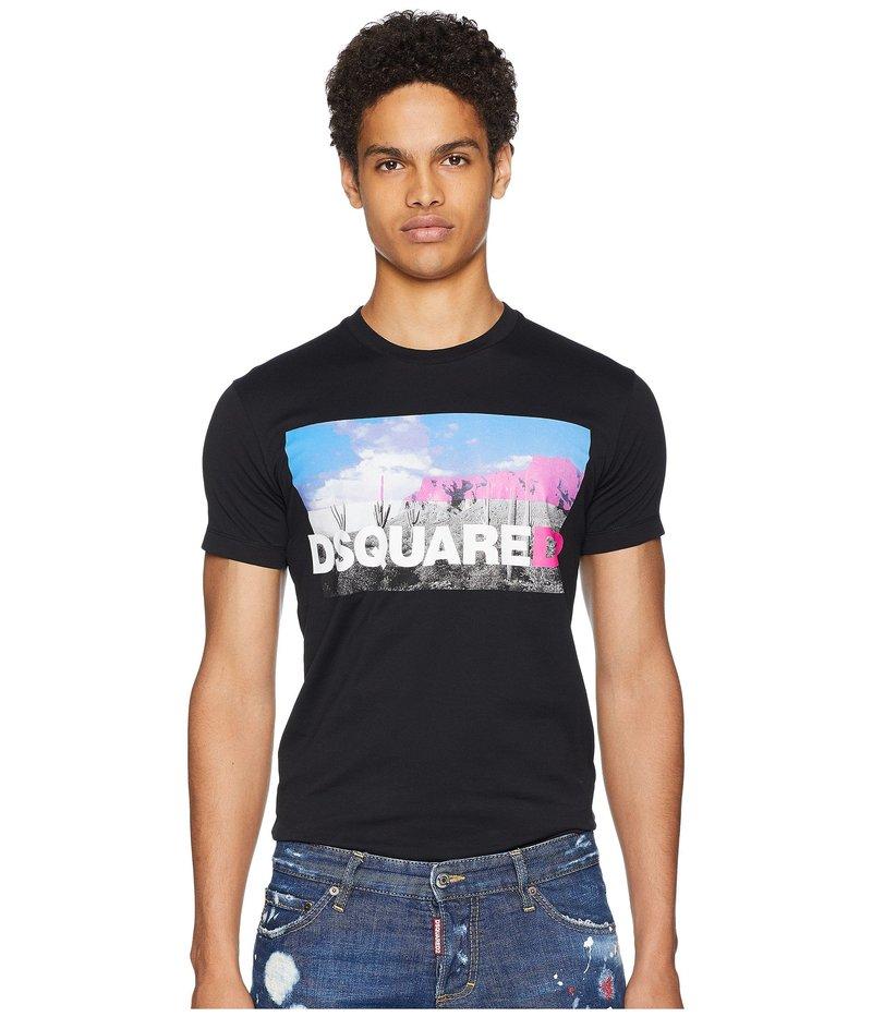 ディースクエアード メンズ シャツ トップス Photo Print T-Shirt Black