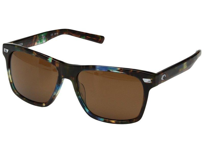 コスタ メンズ サングラス・アイウェア アクセサリー Aransas Shiny Ocean Tortoise Frame/Copper/Silver Mirror 580G