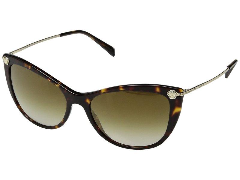 ヴェルサーチ レディース サングラス・アイウェア アクセサリー VE4345B Havana/Gradient Brown Mirror