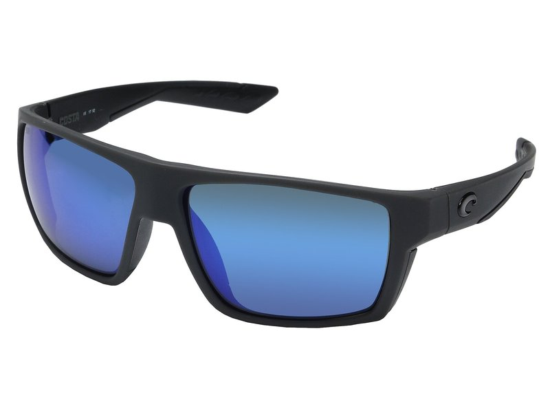 コスタ メンズ サングラス・アイウェア アクセサリー Bloke Matte Gray/Matte Black Frame/Blue Mirror Glass W580