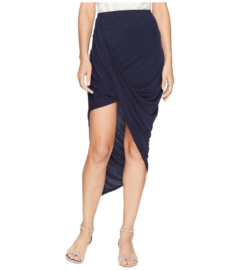 ワンステイト レディース スカート ボトムス Asymmetrical Wrap Skirt Night Navy
