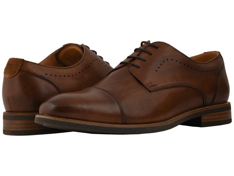 フローシャイム メンズ オックスフォード シューズ Uptown Cap Toe Oxford Cognac Leather/Suede