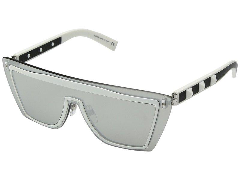 ヴァレンティノ レディース サングラス・アイウェア アクセサリー 0VA2026 Matte White/Leather Black/Mirror Silver