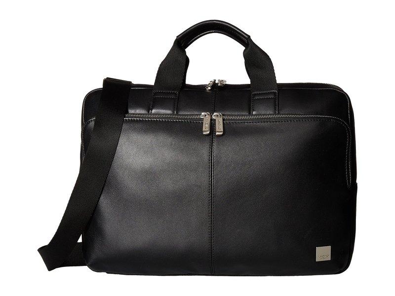 クノモ メンズ ビジネス系 バッグ Brompton Classic Newbury Single Zip Brief Black