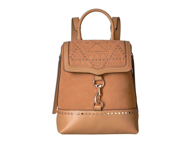 レベッカミンコフ レディース バックパック・リュックサック バッグ Bree Convertible Backpack w/ Studs Desert Tan