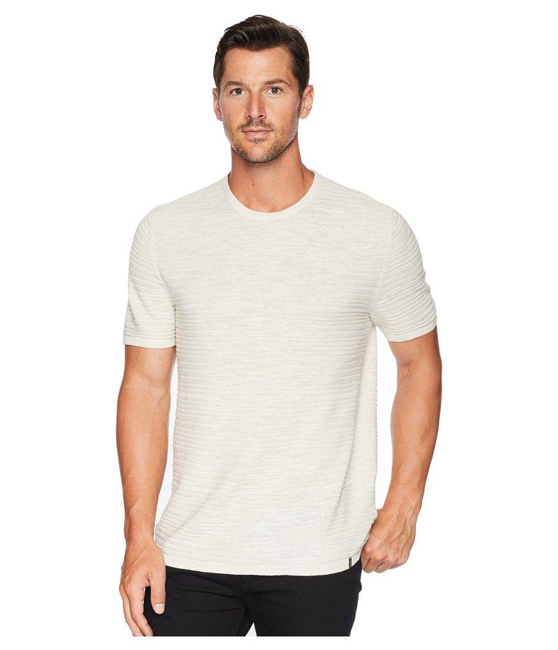 カルバンクライン メンズ シャツ トップス Texture Stripe Linen T-Shirt Silver Birch