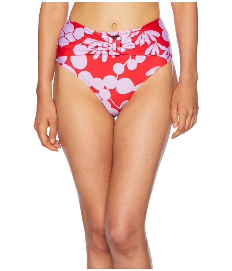 トリーナターク レディース ボトムスのみ 水着 Bali Blossoms High-Waist Pant Bottom Red