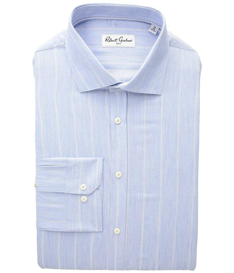 ロバートグラハム メンズ シャツ トップス Storm - Stripe Dress Shirt Blue
