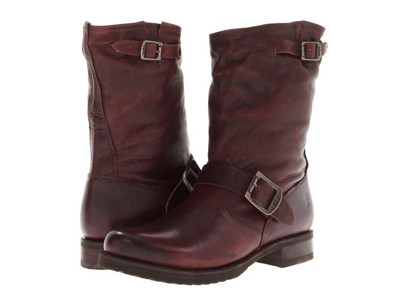 フライ レディース ブーツ・レインブーツ シューズ Veronica Shortie Dark Brown Soft Vintage Leather