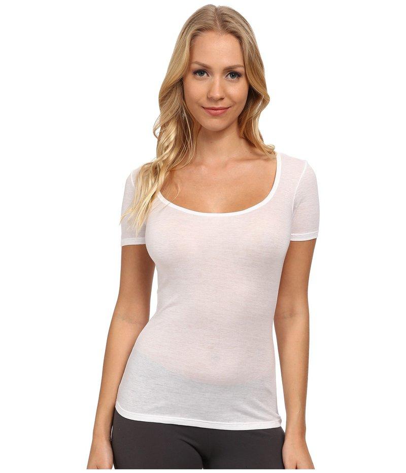 ハンロ レディース シャツ トップス Ultralight Short Sleeve Top White