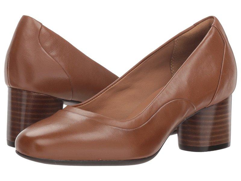 クラークス レディース ヒール シューズ Un Cosmo Step Dark Tan Leather