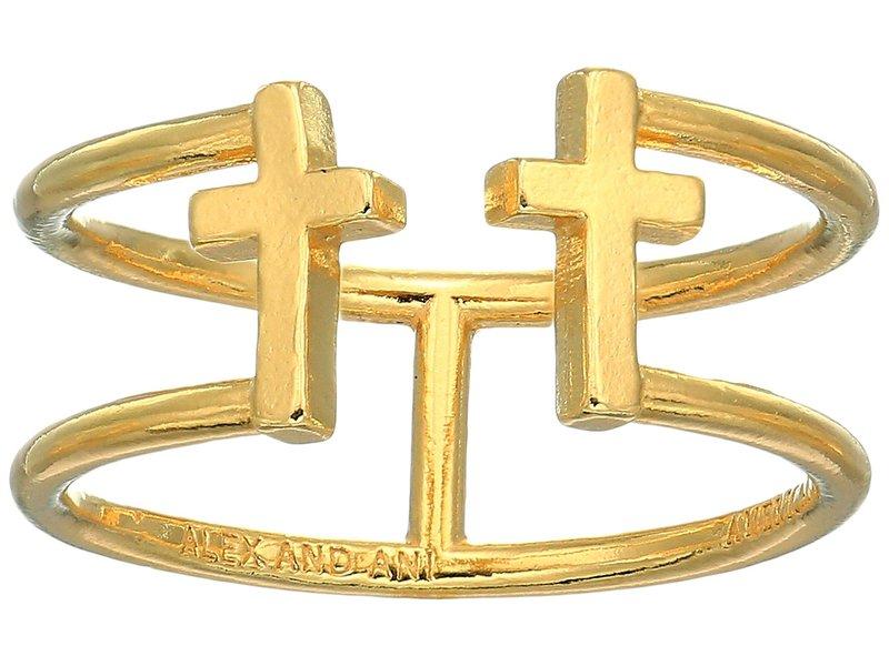 アレックスアンドアニ レディース リング アクセサリー Cross Ring 14KT Gold Plated