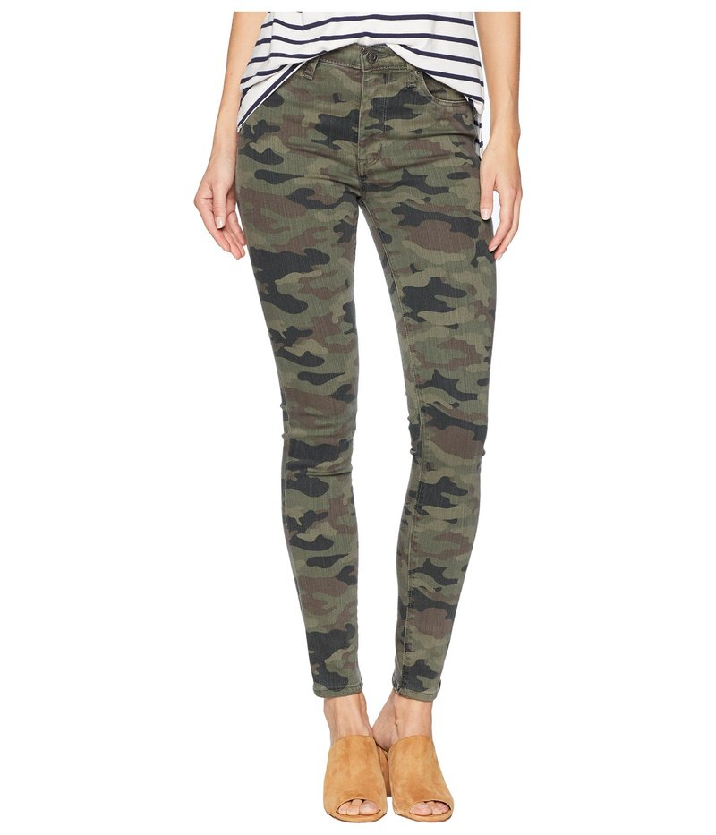 ハドソン レディース デニムパンツ ボトムス Barbara High-Waist Ankle Skinny in Deployed Camo Deployed Camo