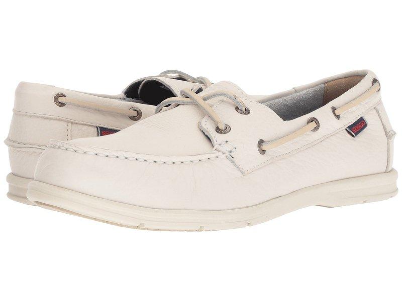 セバゴ メンズ デッキシューズ シューズ Litesides Two-Eye White Leather