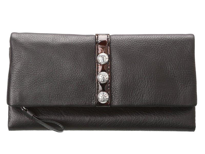 ブライトン レディース 財布 アクセサリー Nolita Shimmer Large Wallet Black/Chocolate