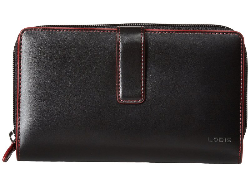 ロディス レディース 財布 アクセサリー Audrey RFID SUV Deluxe Wallet W/ Removable Checkbook Black RFID