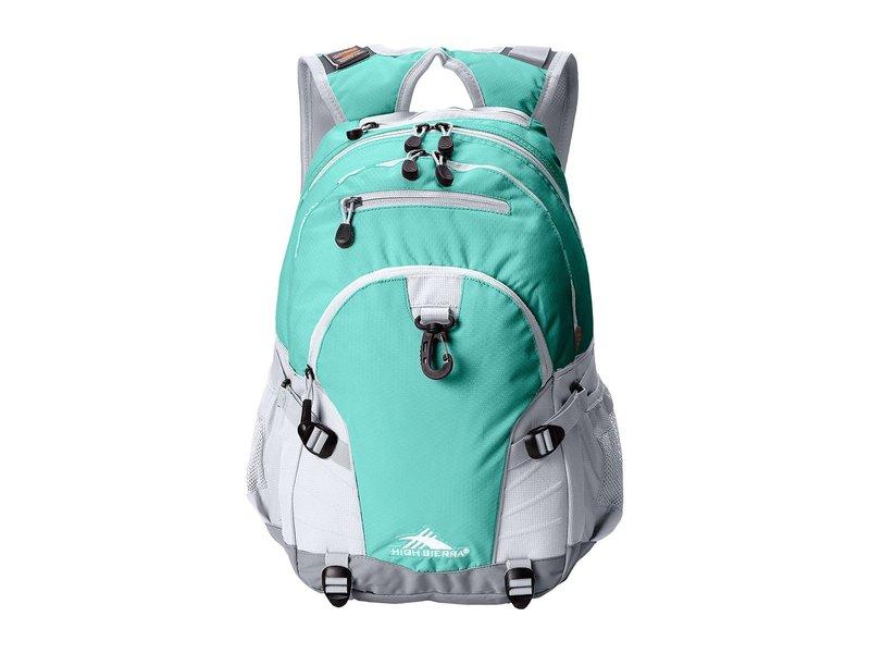 ハイシエラ レディース バックパック・リュックサック バッグ Loop Backpack Aquamarine/White/Ash