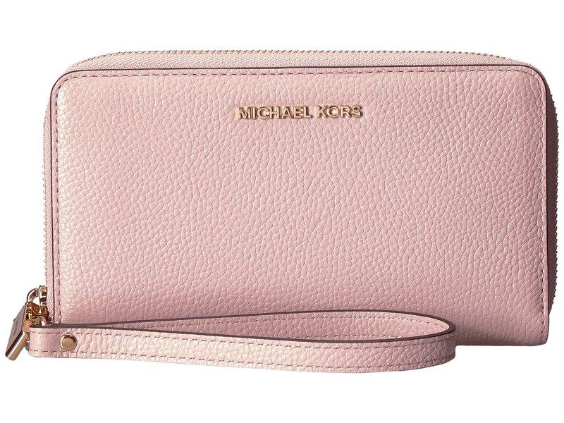 マイケルコース レディース 財布 アクセサリー Large Flat Multifunction Phone Case Soft Pink 1