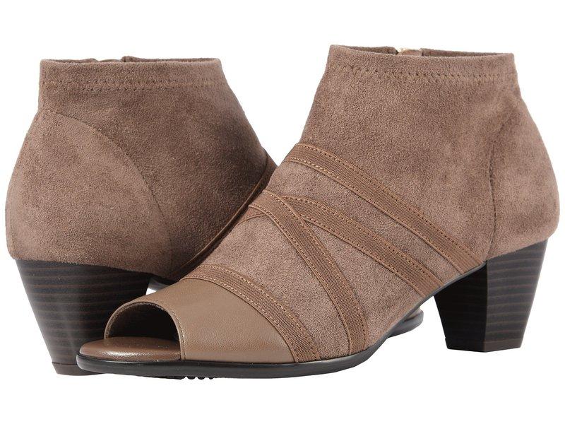 トロッターズ レディース ブーツ・レインブーツ シューズ Maris Taupe Soft Nappa Leather/Stretch Textile