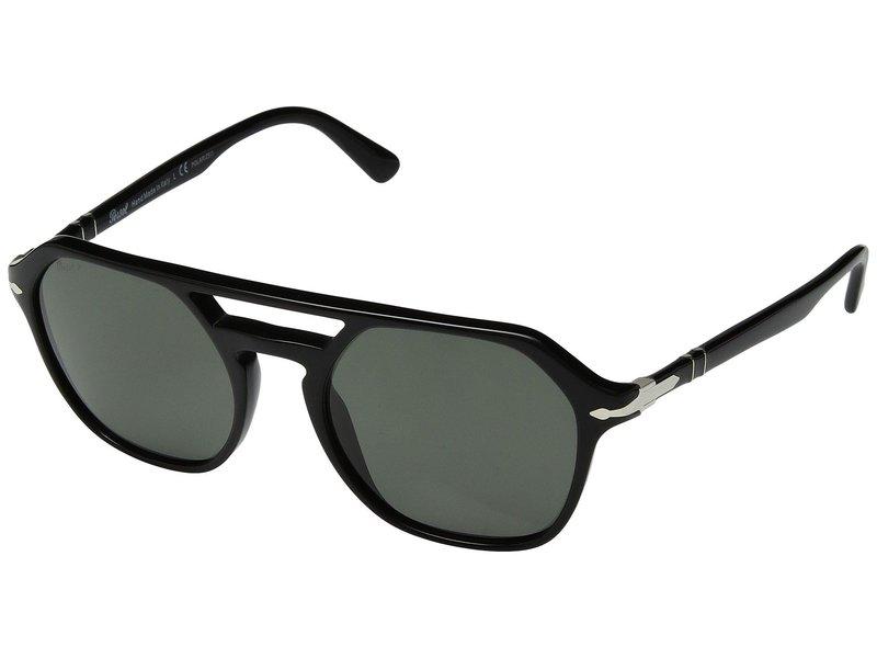 ペルソル メンズ サングラス・アイウェア アクセサリー 0PO3206S Black/Green Polarized
