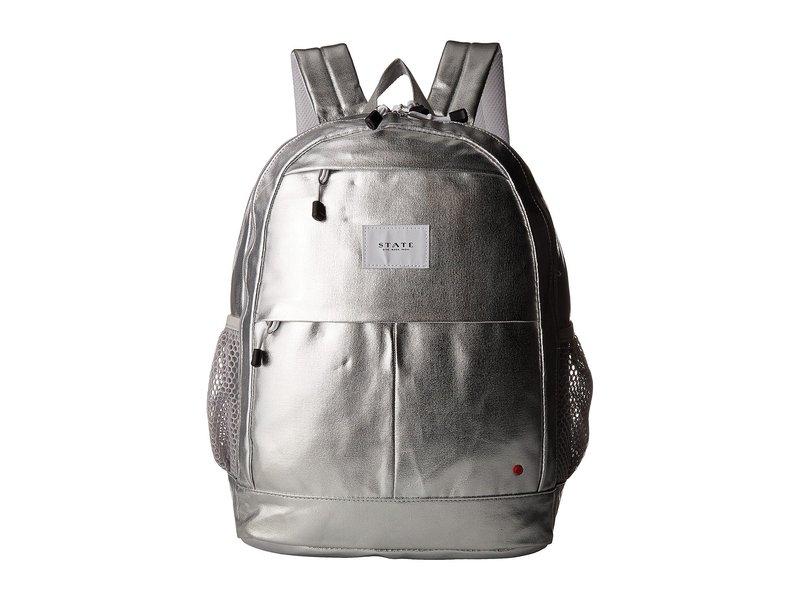 ステイトバッグス レディース バックパック・リュックサック バッグ Metallic Leny Backpack Silver