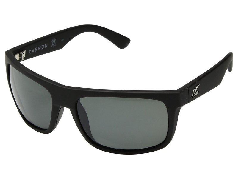 カエノン メンズ サングラス・アイウェア アクセサリー Burnet Mid Black Matte Grip Ultra Grey 12-Polarized