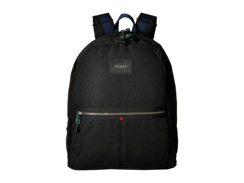 ステイトバッグス メンズ バックパック・リュックサック バッグ Poly Canvas Kent Backpack Black