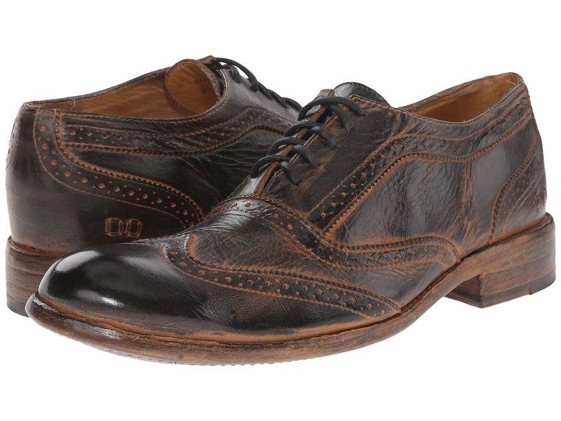 ベッドステュ メンズ オックスフォード シューズ Corsico Black Rustic/Rust BFS Leather