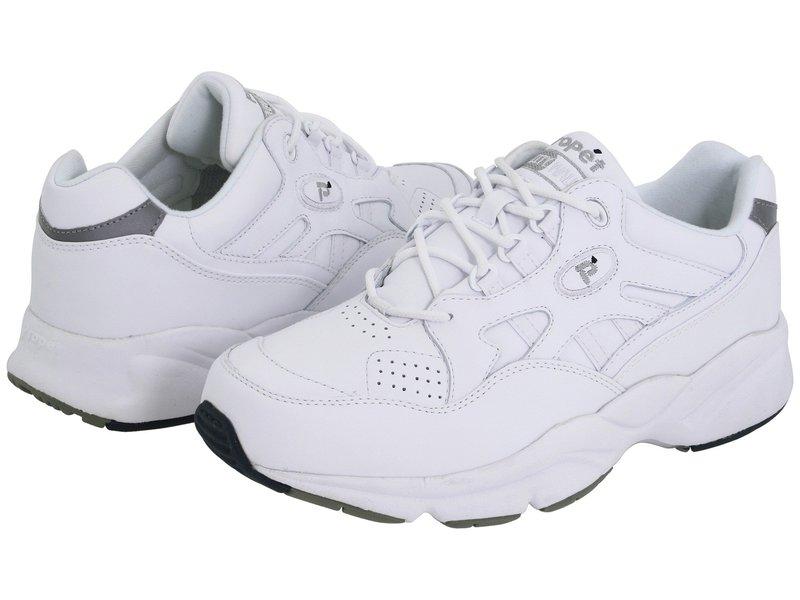プロペット メンズ スニーカー シューズ Stability Walker Medicare/HCPCS Code = A5500 Diabetic Shoe White Leather